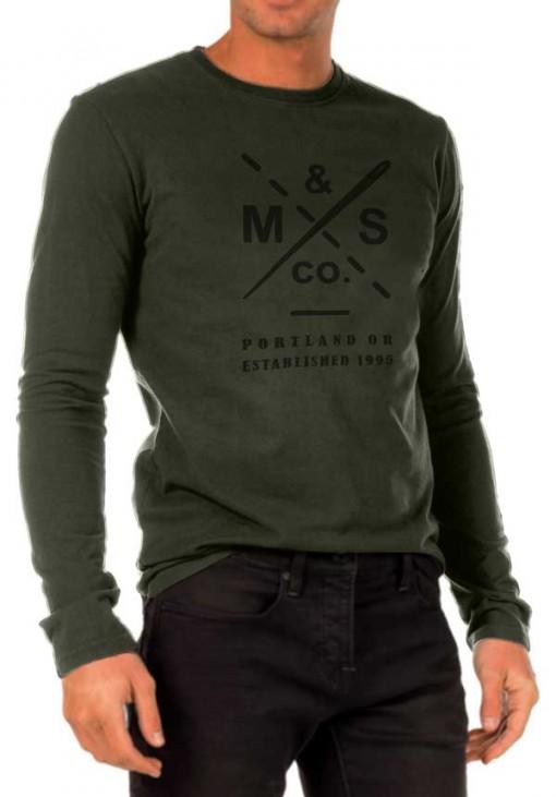 Ανδρικό Μακρυμάνικο T-Shirt - RMS Denim - Λαδί - FD5138