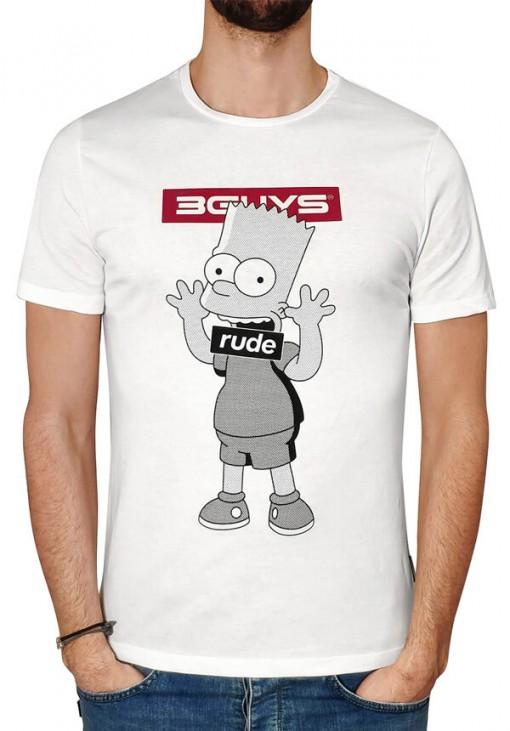 Ανδρικό T-Shirt - SIMPSONS - 3GUYS - Λευκό - 4297