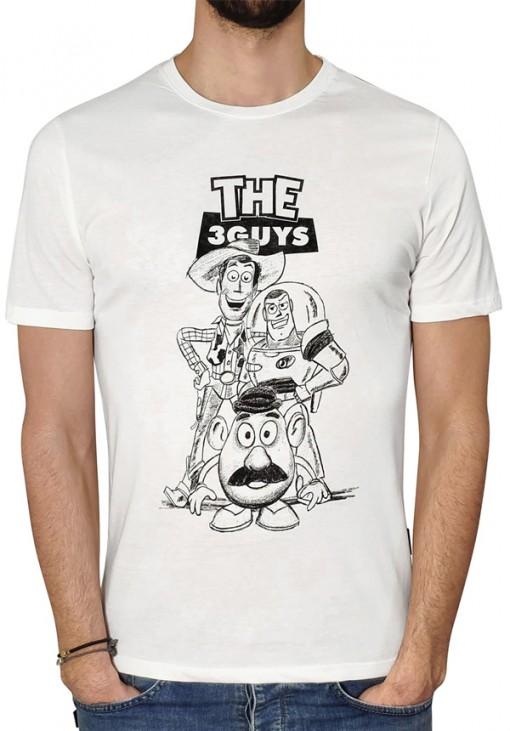 Ανδρικό T-Shirt - STORY - 3GUYS - Λευκό - 4300