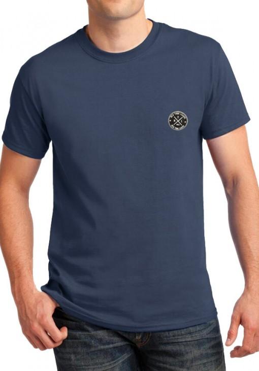 Ανδρικό Κοντομάνικο T-Shirt - NYL - B&C - Μπλε Ραφ - 4411