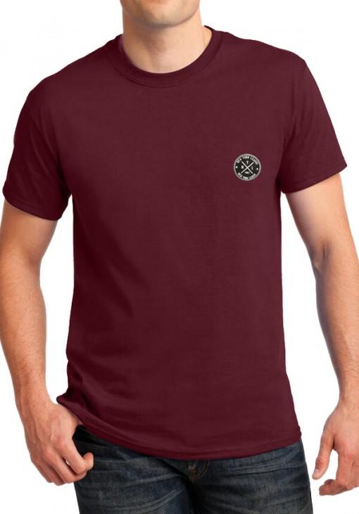 Ανδρικό Κοντομάνικο T-Shirt - NYL - B&C - Μπορντώ - 4414
