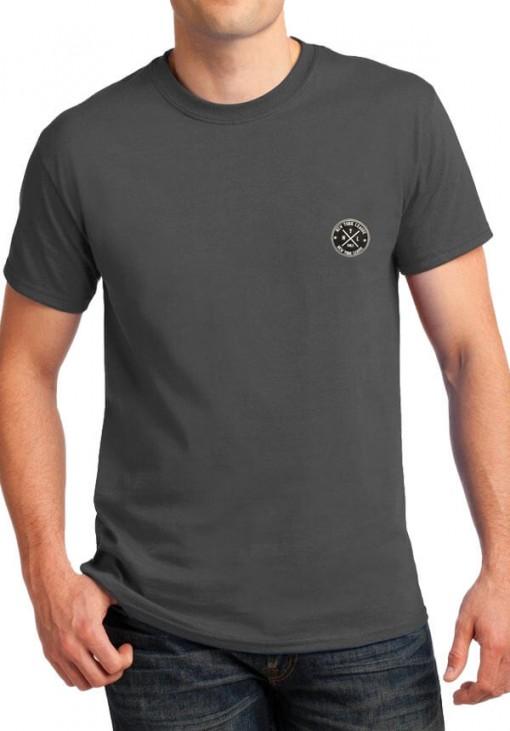 Ανδρικό Κοντομάνικο T-Shirt - NYL - B&C - Γκρι Σκούρο - 4412